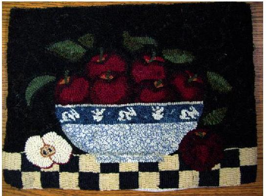 "Bowl of Apples - ""Inspired by a Dedham Pottery design"""